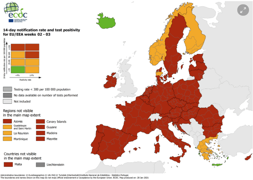 COVID-19 Map - European Centre for Disease Prevention and Control