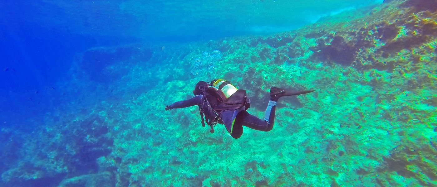 Underwater Adventure: Scuba Diving off Crete, Greece