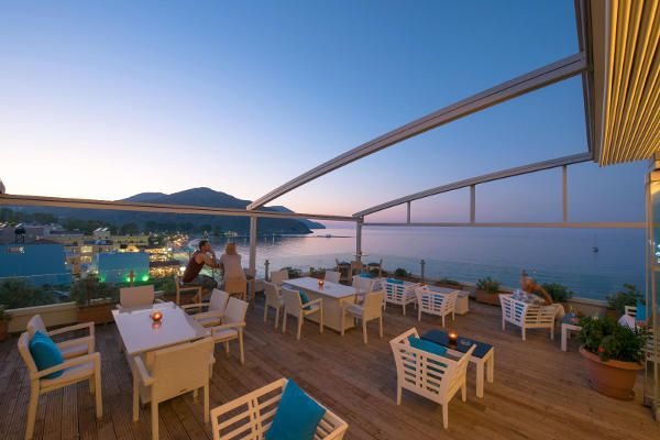 360° Lounge Bar Panorama in Corissia Princess Hotel, Georgioupolis, Kreta, Griechenland
