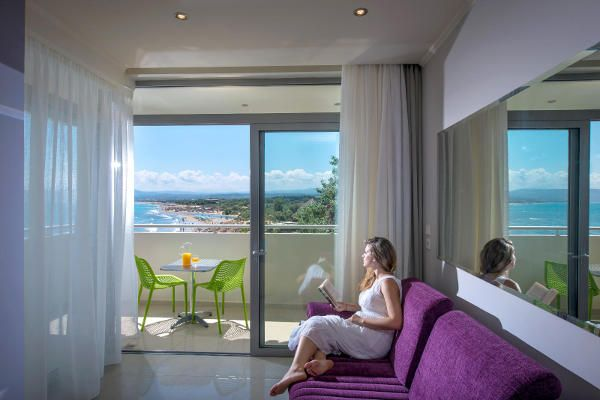 Junior Suite with sea view Corissia Princess Hotel Georgioupolis