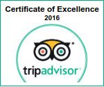 Certificate of Excellence 2016 on Tripadvisor