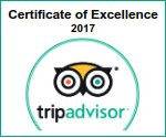 Certificate of Excellence 2017 on Tripadvisor